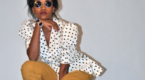 Photo Friday: High Fashion- Polka Dots and Mustard
