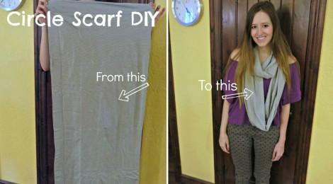 Design DIY: Pillowcase to Infinity Scarf DIY